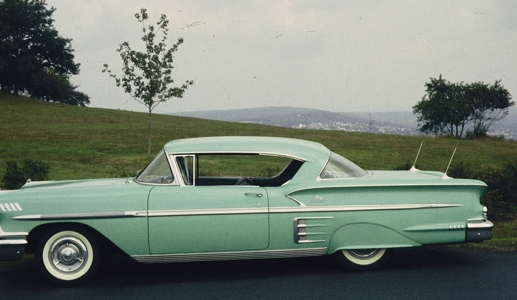 Tropical Turquoise whitewalls and fender skirts