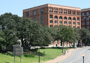 Texas School Book Depository Building TSBD where Employee Lee Harvey Oswald fired his Mannlicher-Carcano rifle