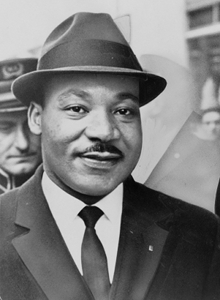Martian Luther King Jr MLK icon of the 1960s civil rights movement