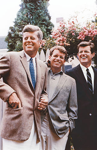 JFK Kennedy brothers John Kennedy, Ted Kennedy, Bobby Kennedy