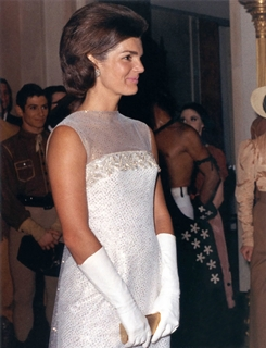 Jackie Attending a dinner for the president of the Ivory Coast.