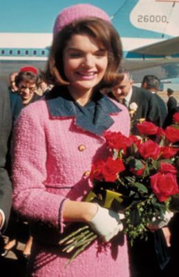 The pink Chanel suit Jackie wore on the day her husband was assassinated in 1963 became a lasting image of the decade.