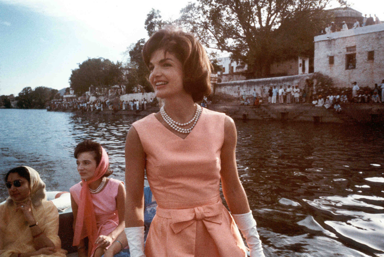 JFK  Jackie Mrs. Kennedy trip to India