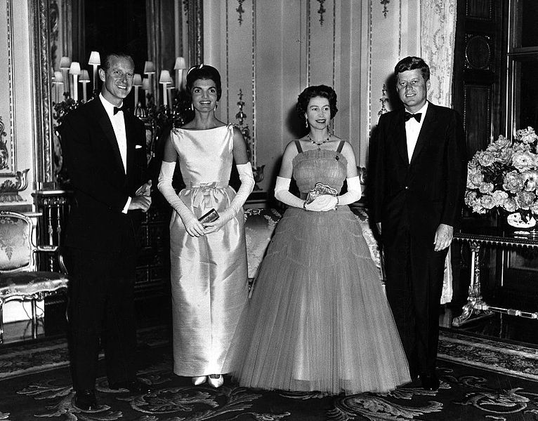 Jackie Queen Elizabeth Prince Philip host Dinner for President Mrs Kennedy
