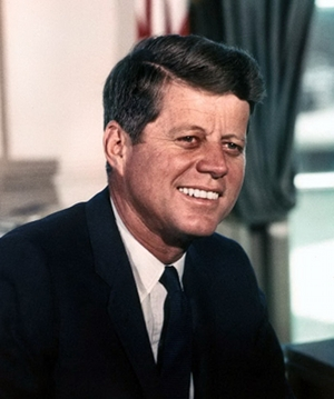 John F. Kennedy White House color portrait
