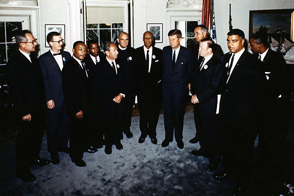 martin luther king jr and john f kennedy