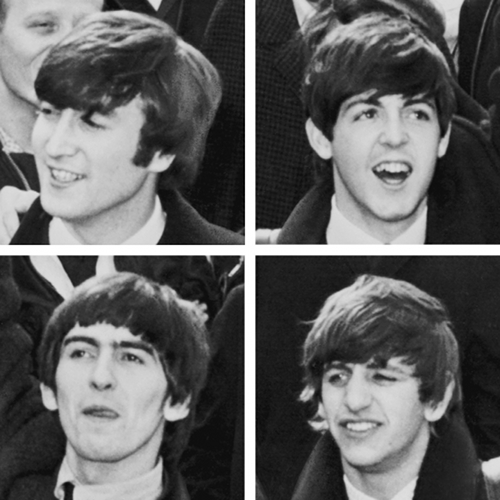 John, Paul, George, and Ringo Please Please Me