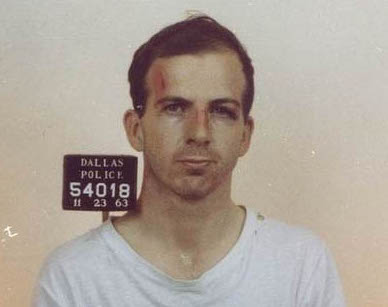 Lee Harver Oswald Mug Shot - Dallas police station November 22 1963