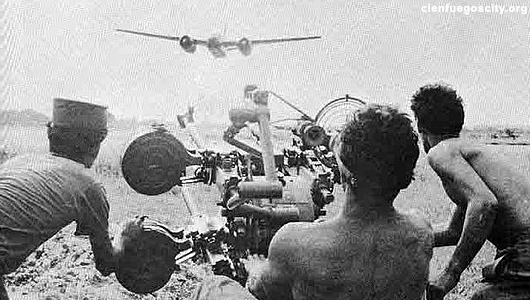 Photo of US Air Force bombing Cuban Airfields