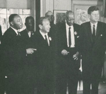 Martian Luther King Jr MLK and JFK civil rights movement