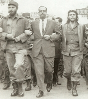 Fidel Castro Che Guevara at the La Coubre March