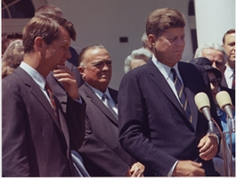 J. Edgar Hoover with John Kennedy and Bobby Kennedy