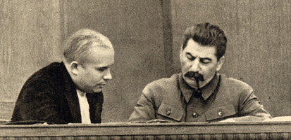 Joseph Stalin and Nikita Khrushchev 1936