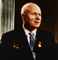 Nikita Khrushchev in color