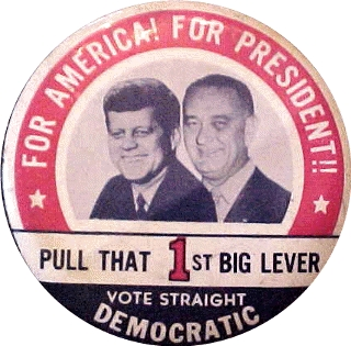 LBJ Kennedy campaign button