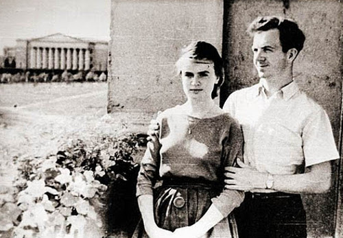 Marina Oswald and Lee Harvey Oswald