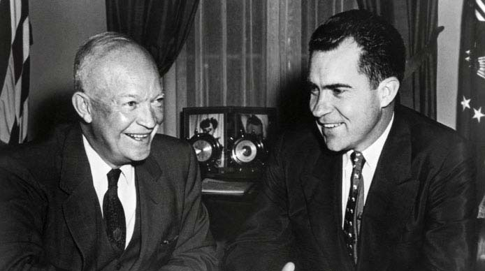 Richard Nixon and Dwight Eisenhower