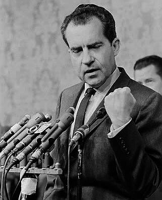 You won't have Dick Nixon to kick around anymore